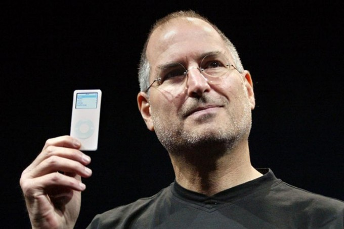 The late Apple CEO Steve Jobs at the iPod nano launch. [Reuters]