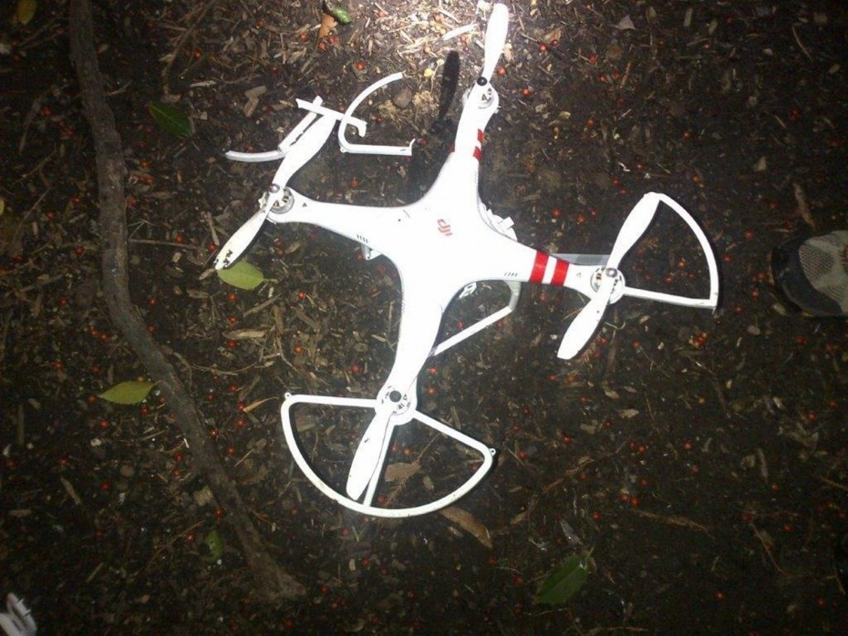 The drone that landed on the White House's South Lawn.  Photo: Secret Service