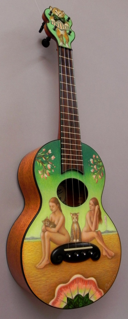 Hand Made Hand Painted Ukulele Boing Boing