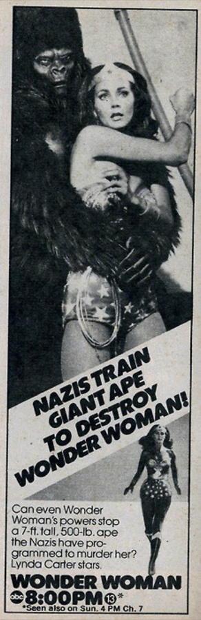 Nazis train giant ape to destroy WonderWoman