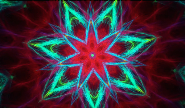 Watch hours of intricate kaleidoscopic color in HD