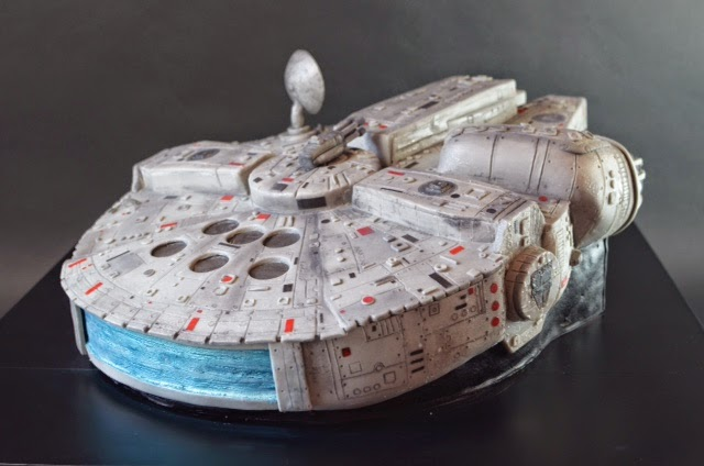 A most excellent Star Wars Millenium Falcon cake