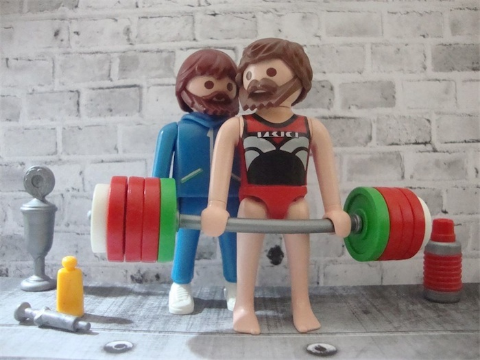 Custom Playmobil weightlifters with homoerotic and steroid references /  Boing Boing