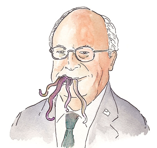 Portraits of every U.S. vice president in history but with an octopus on their head