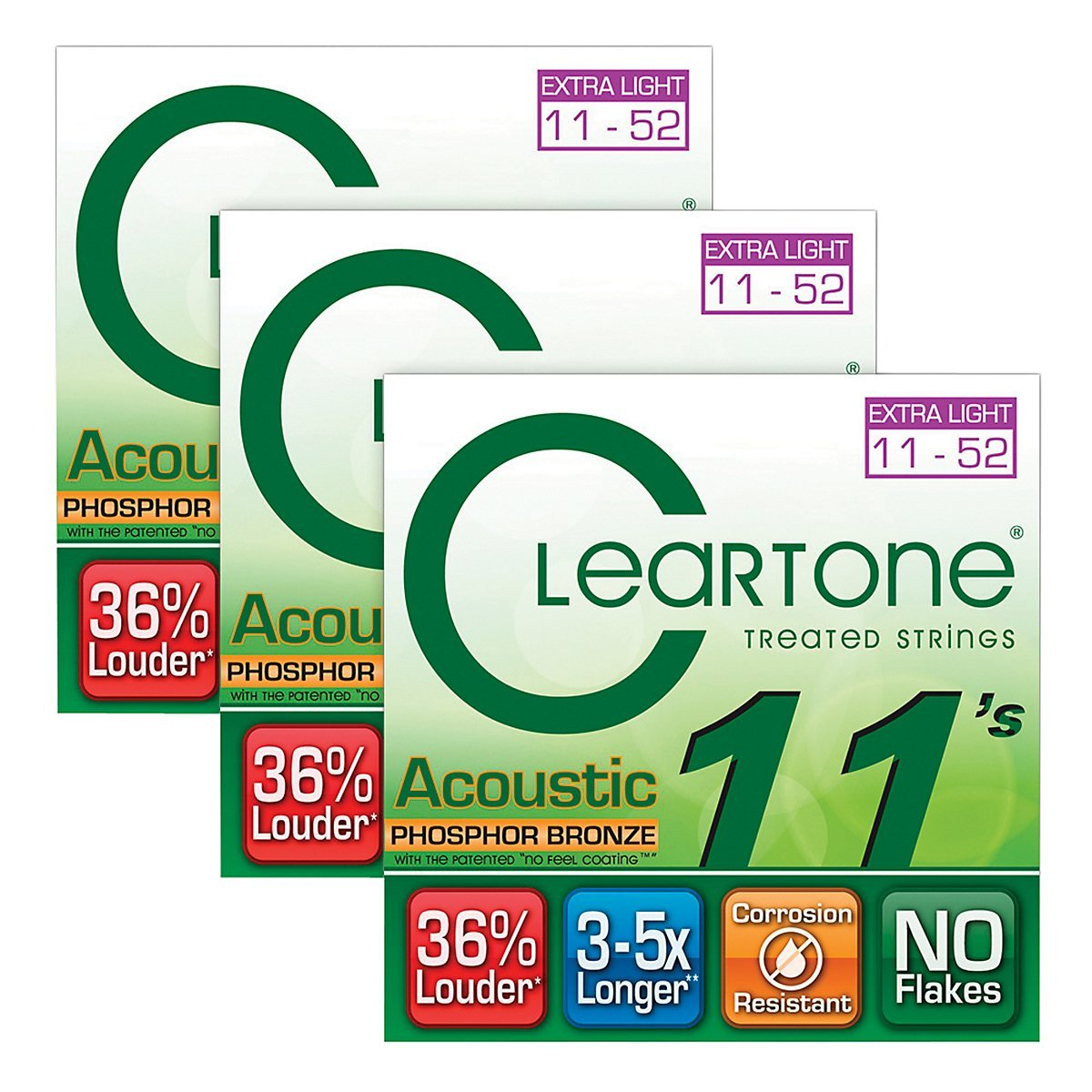 Cleartone Coated Extra Light Acoustic Guitar Strings