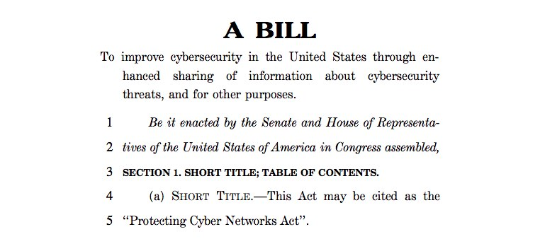 Internet 'Threat-sharing' bill introduced in U.S. House. Promise: security. Reality: surveillance.
