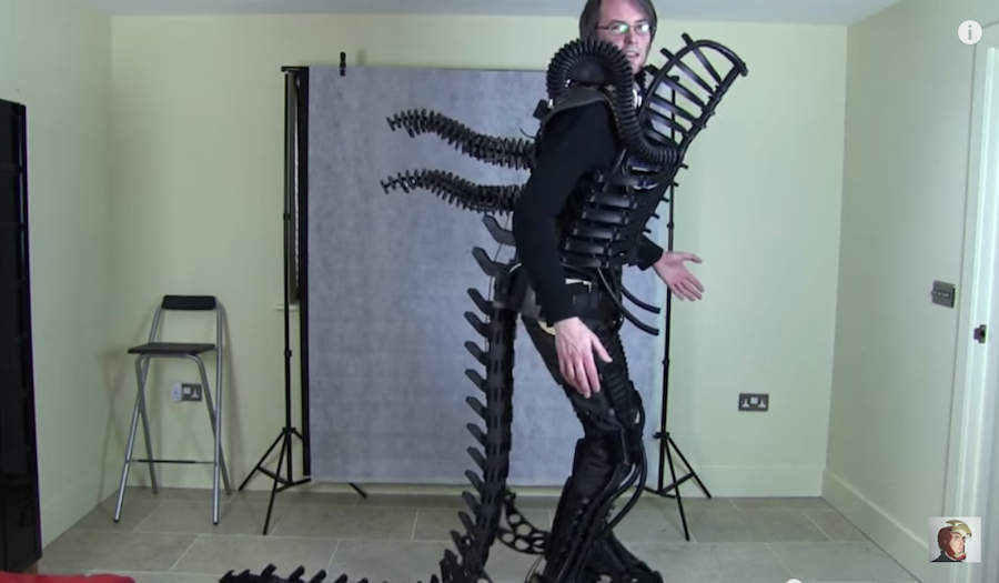 & WATCH: 3D Printed Alien Xenomorph costume / Boing Boing