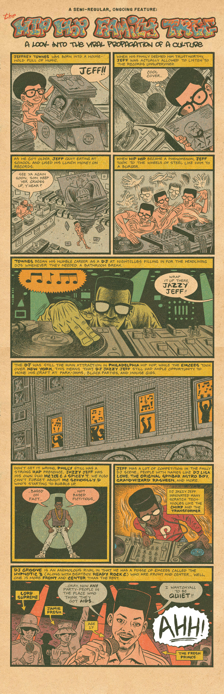 Hip Hop Family Tree Dj Jazzy Jeff Boing Boing