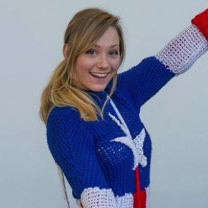 woman knitted entire captain america costume boing boing