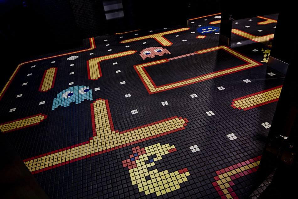 Pac Man Bathroom Mosaic Tile Boing Boing