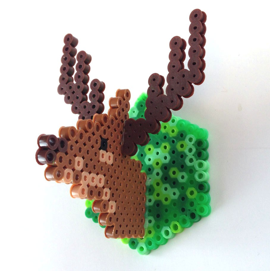 Excellent Mini Faux Deer Head From Perler Beads Boing Boing