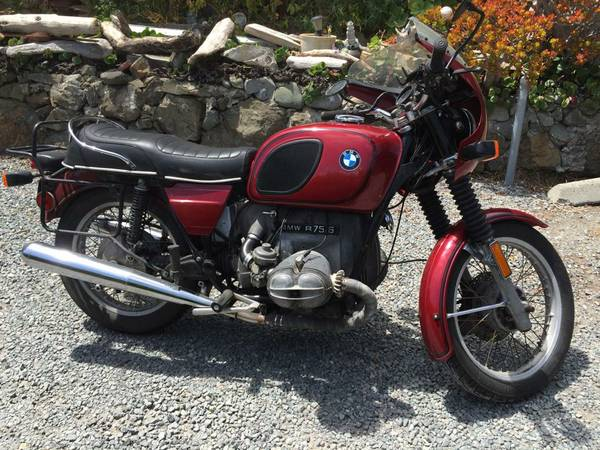 for sale 1975 bmw r75 6 likely haunted boing boing. Black Bedroom Furniture Sets. Home Design Ideas