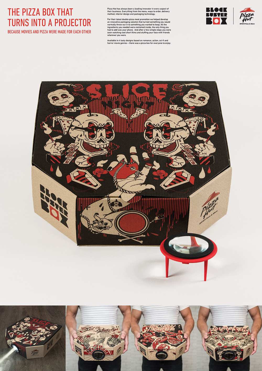 Pizza Box Becomes A Phone Powered Projector Boing Boing