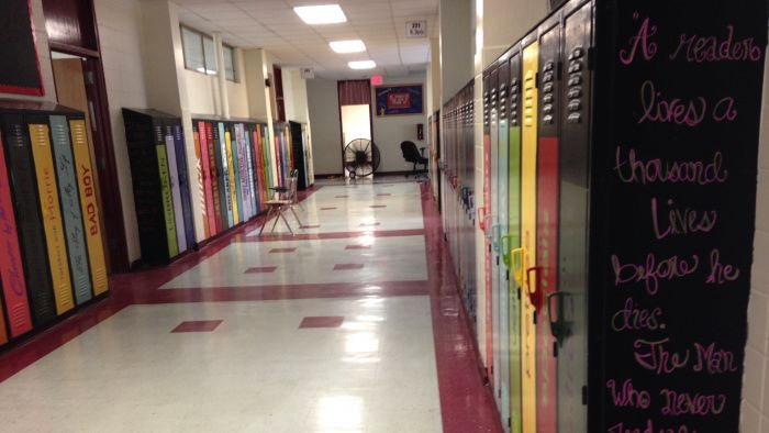 School Lockers Painted As Book Spines Boing Boing