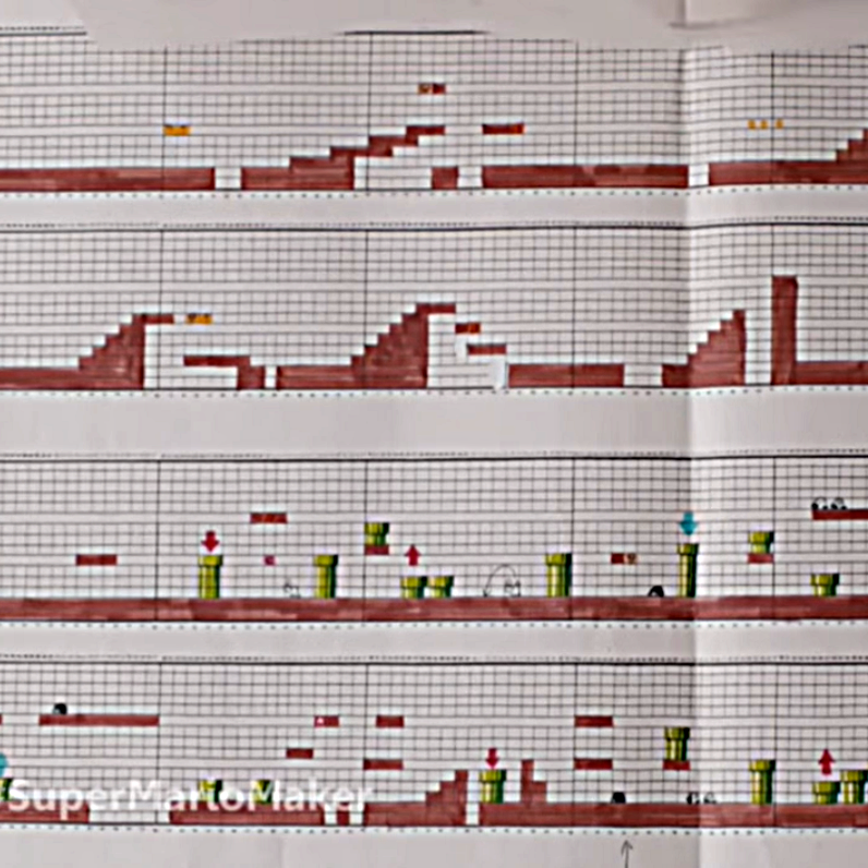 Nintendo Used To Design Super Mario Levels On Graph Paper