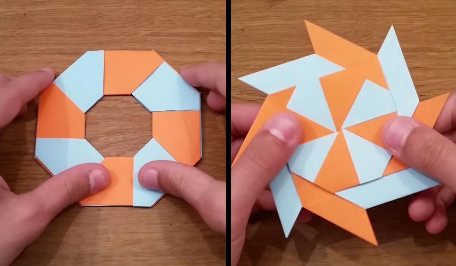 HOWTO make retractable origami ninja stars / Boing Boing - photo#31