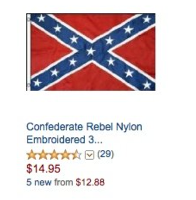 Amazon and eBay to ban Confederate merchandise (UPDATE: And Etsy too)