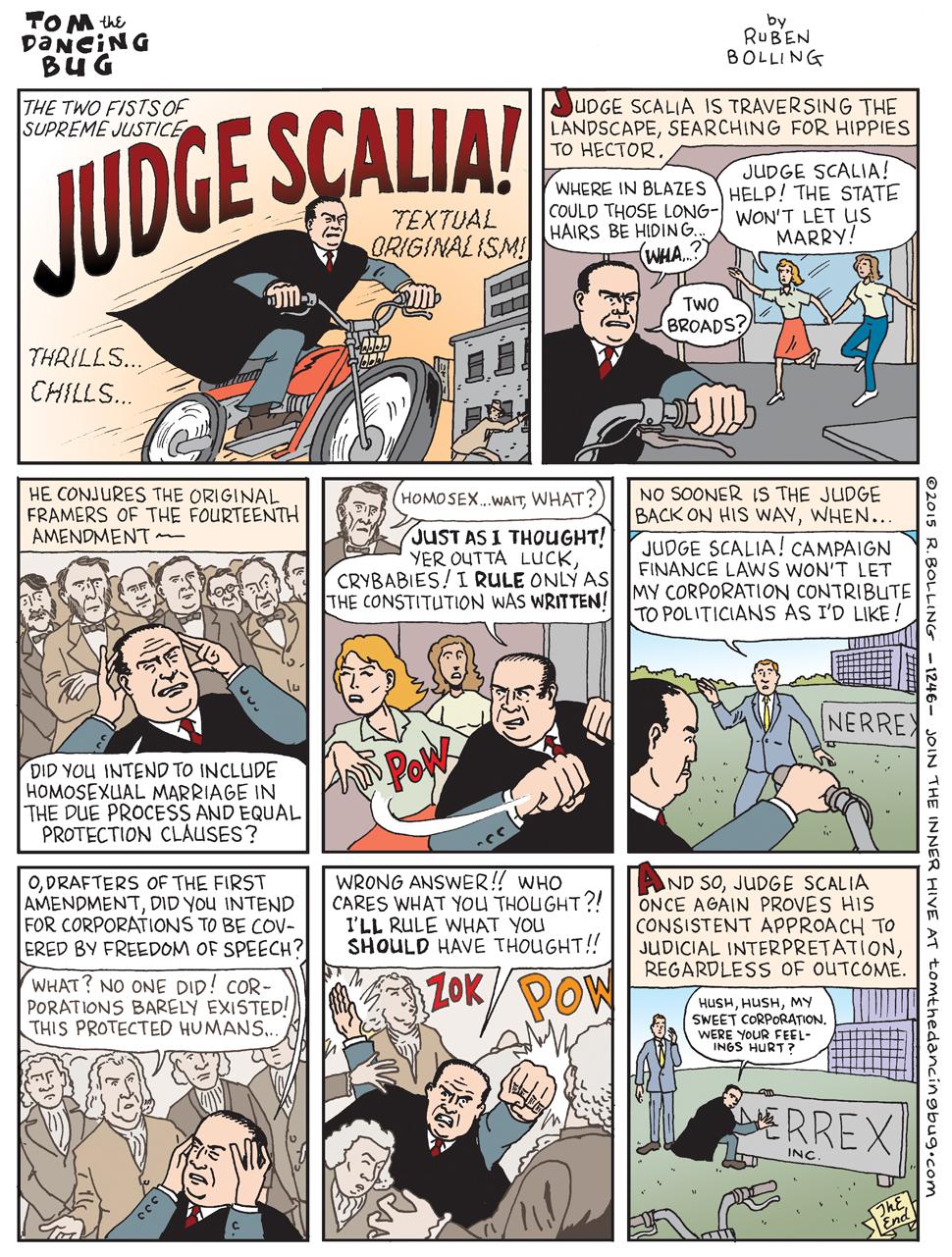 Judge Scalia!  Originalist!