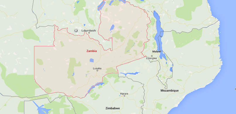Map of Zambia.