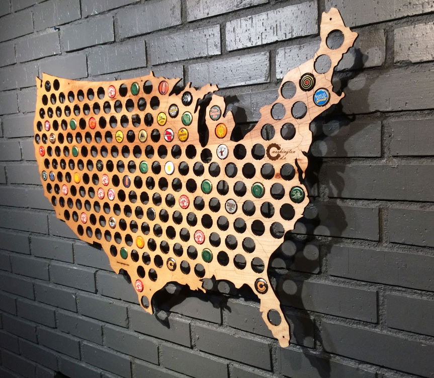 Beer Cap Maps Boing Boing - Us quarter collector map