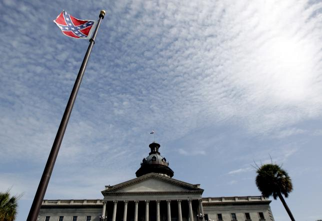A Confederate flag stands in front of the South Carolina State House in Columbia, South Carolina July 4, 2015. REUTERS/Tami Chappell