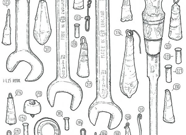 Illustrator Is Drawing Every Item In His Late Grandfather