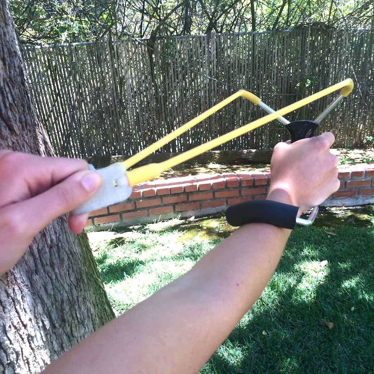 slingshots are perfect for shooting zombie targets and tin