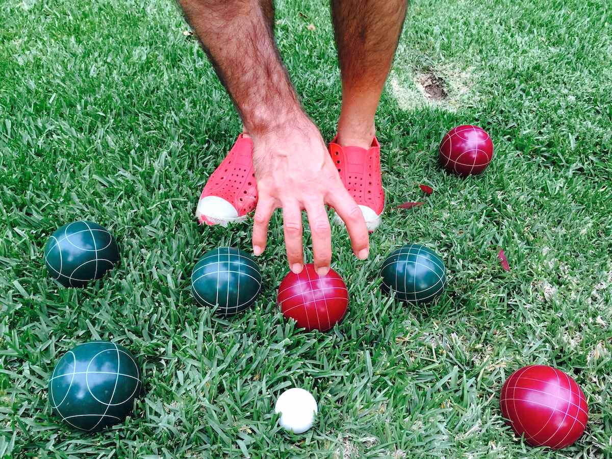 Bocce ball ? A summer evening lawn game that is simple yet