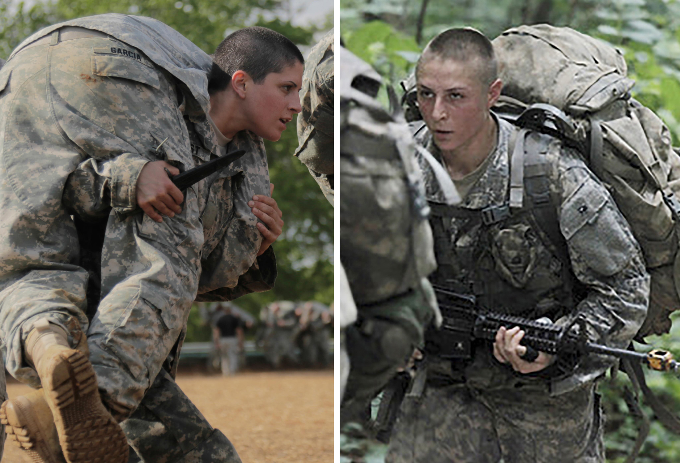 U.S. Army Capt. Kirsten Griest (L)  and First Lieutenant Shaye Haver (R)