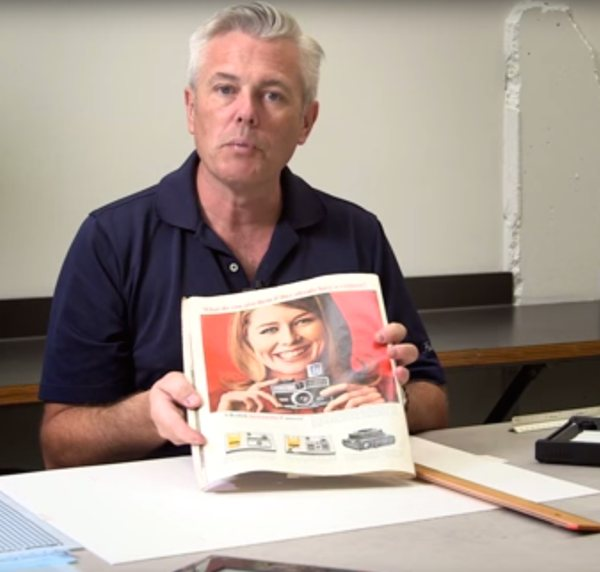 Fascinating video of graphic design process in the pre-Photoshop Mad Men era