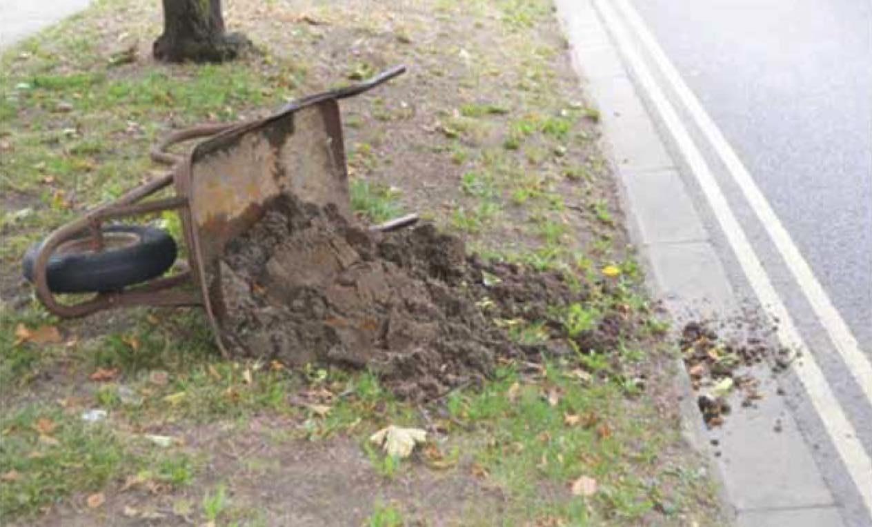 Chaos in England as ornamental wheelbarrow tipped over