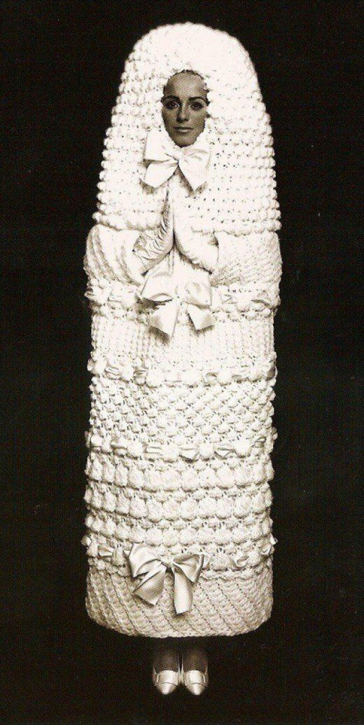 This Vintage Couture Wedding Dress Looks Like A Russian Nesting Doll Or Tampon Boing