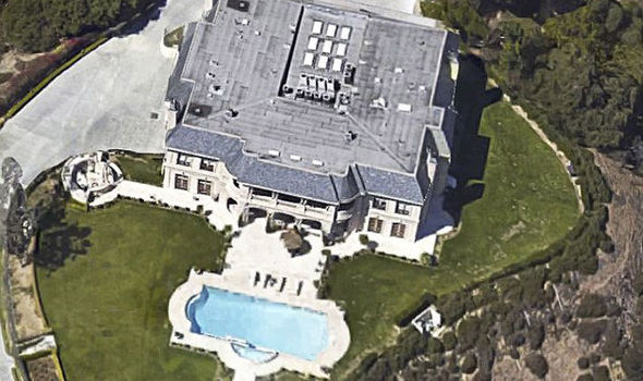 Aerial view of the mansion where Majed Abdulaziz Al-Saud was arrested