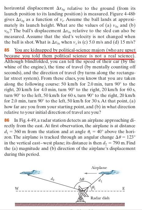 Actual textbook physics problem