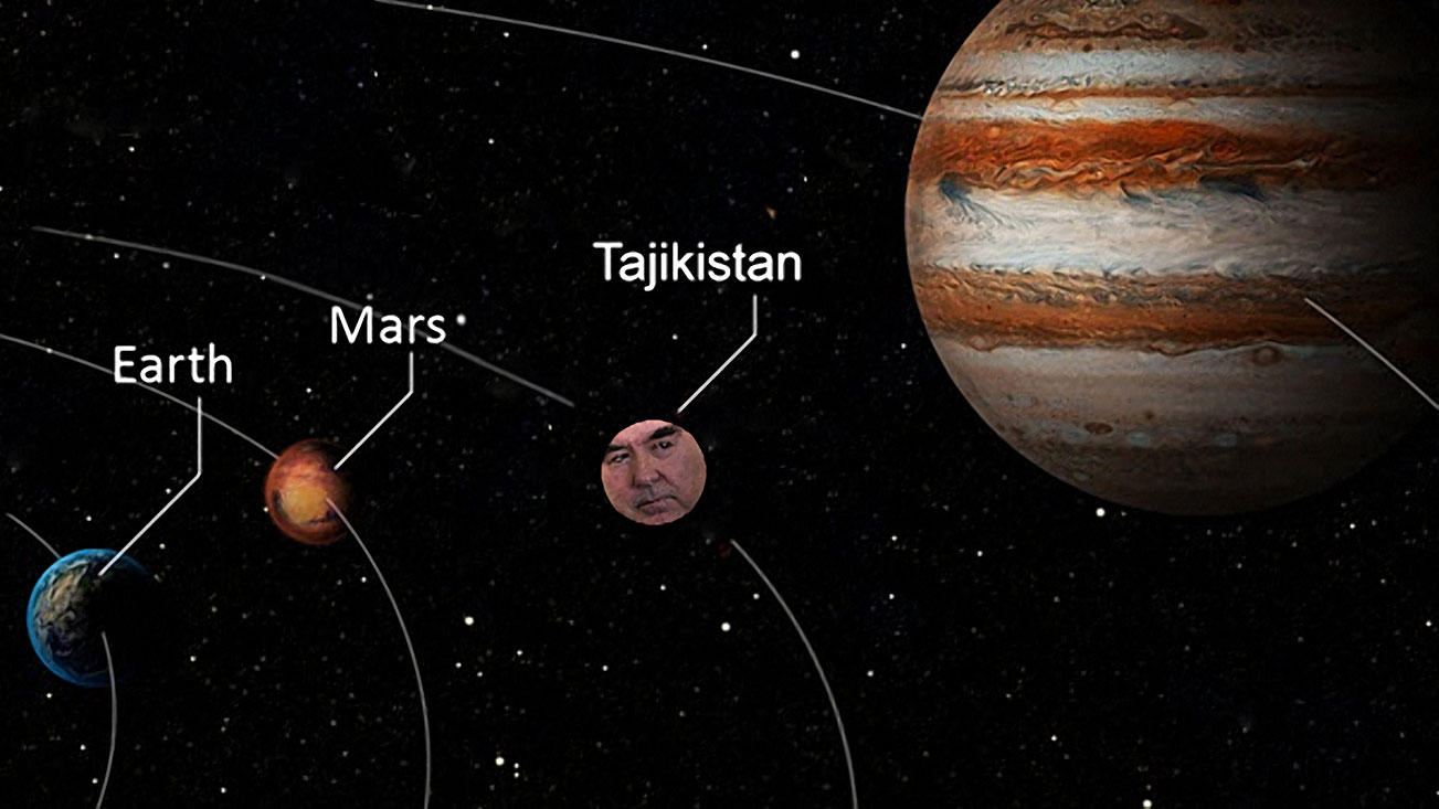 Tajikistan creates planet, names it after self