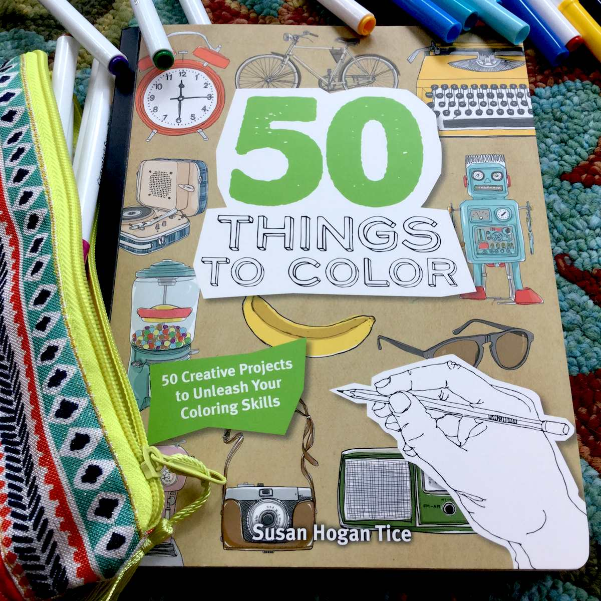 A Quirky Coloring Book With Images Of Typewriter And Giraffe An Overbite