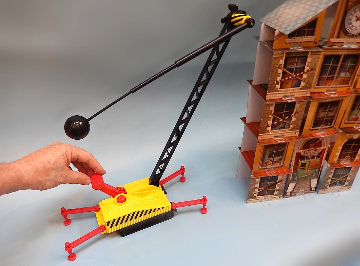 Wrecking Ball Building : Build a story school building then knock it down with