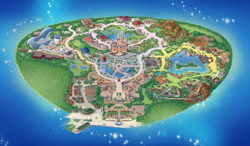 Shanghai Disneyland Map