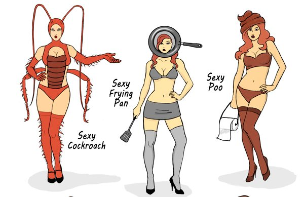 Artist Rebecca Cohen posted her interpretation of six sexy halloween costumes on Deviantart a sexy cockroach a sexy frying pan sexy poo a sexy t&on ...  sc 1 st  Boing Boing & Parody of sexy halloween costumes: sexy tampon sexy fetus and more ...