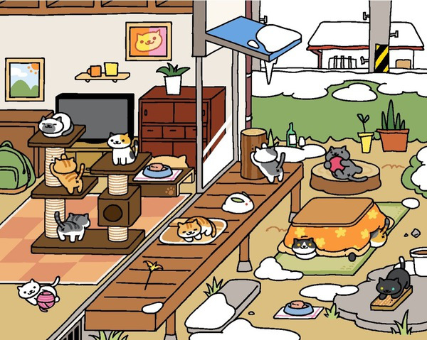 The Japanese cat collecting game Neko Atsume is finally in English