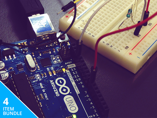 Build robots and light sensors with the Arduino Starter Kit and Course Bundle, 85% off