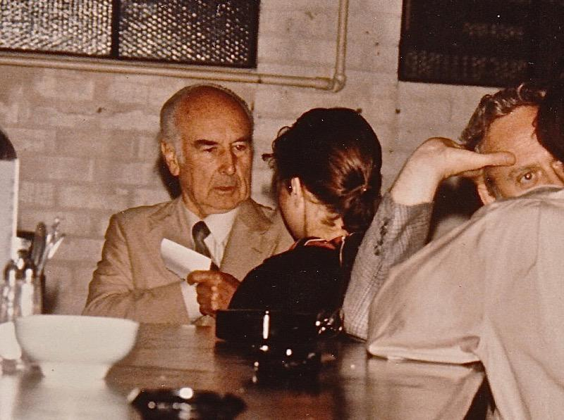 Albert Hofmann in the Cafe.
