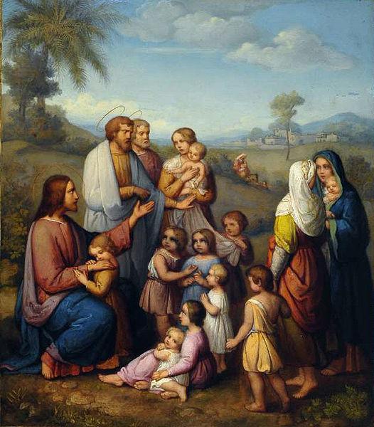 526px-Marie_Ellenrieder_Jesus_von_Kindern_umgeben_2