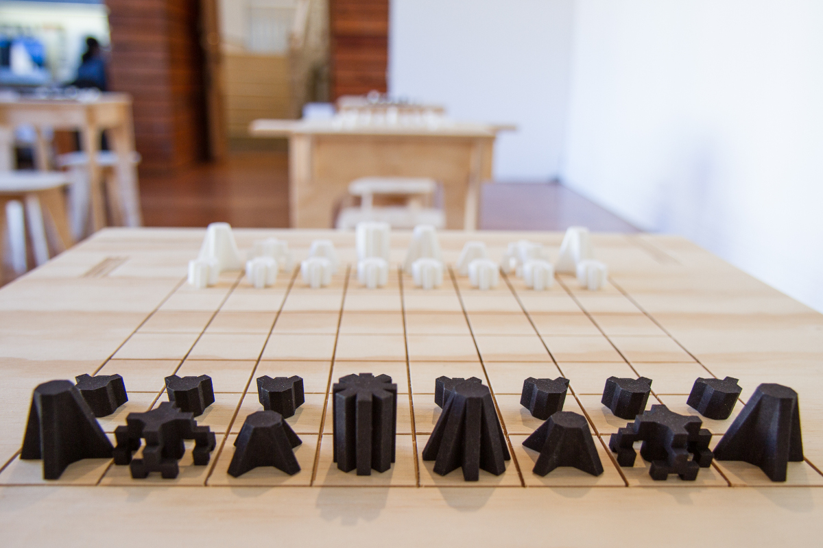 a chess set that could teach aliens how to play offworld. Black Bedroom Furniture Sets. Home Design Ideas