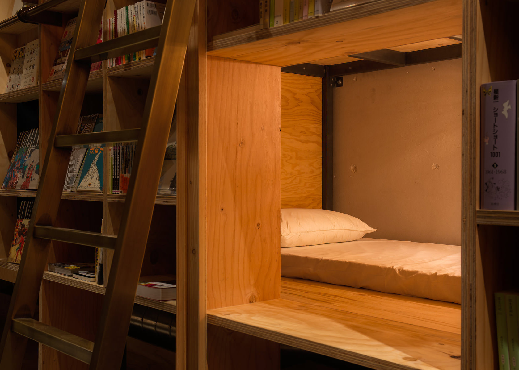 Book And Bed Tokyo S Coffin Hotel Bookstore Boing Boing