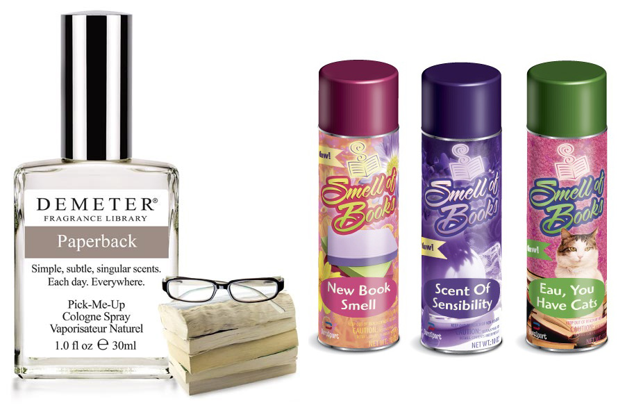 The smell of books in a spray, lotion or candle