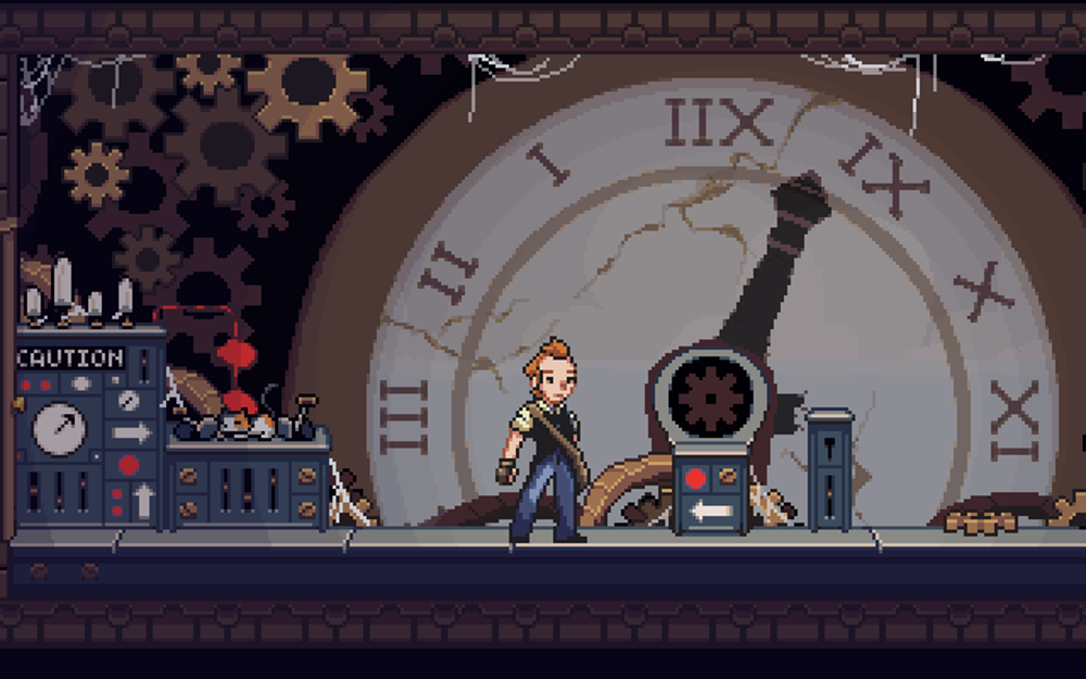 Fix a clock tower on a mysterious island, you dashing