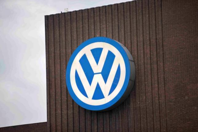 Volkswagen logo in Wolfsburg, Germany. REUTERS