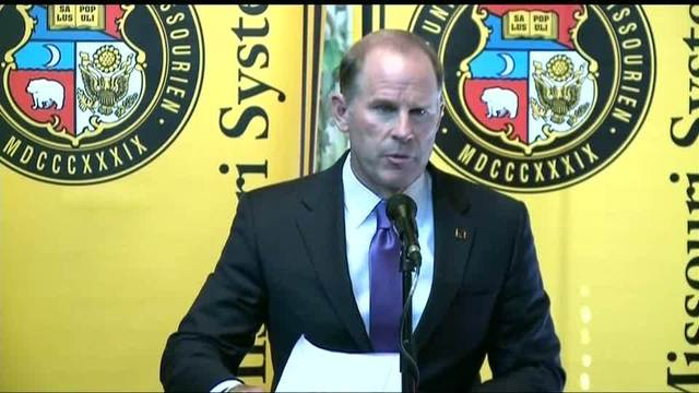 The University of Missouri's president Tim Wolfe resigns after protests.