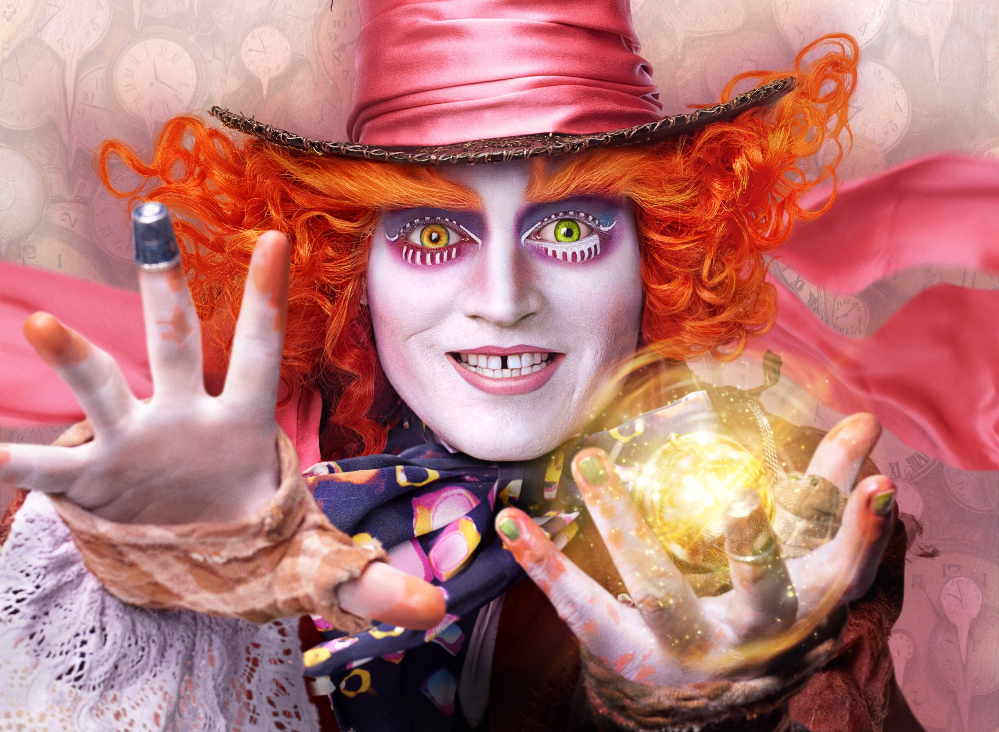 "Johnny Depp is Hatter in ""Alice Through the Looking Glass."""